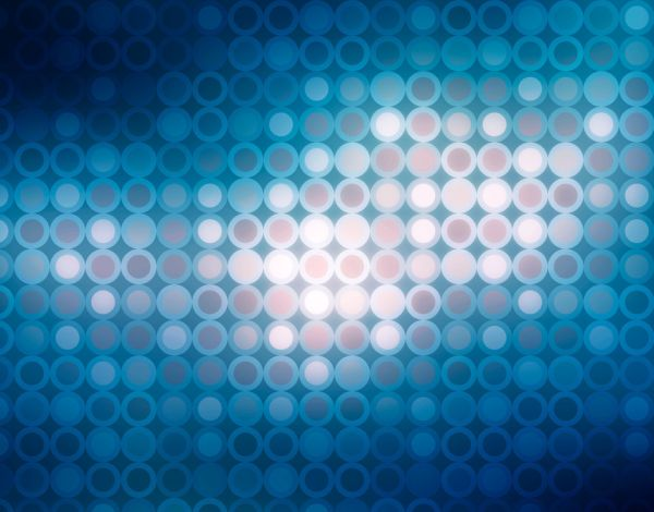 Service abstract blue light circle pattern backgrounds powerpoint